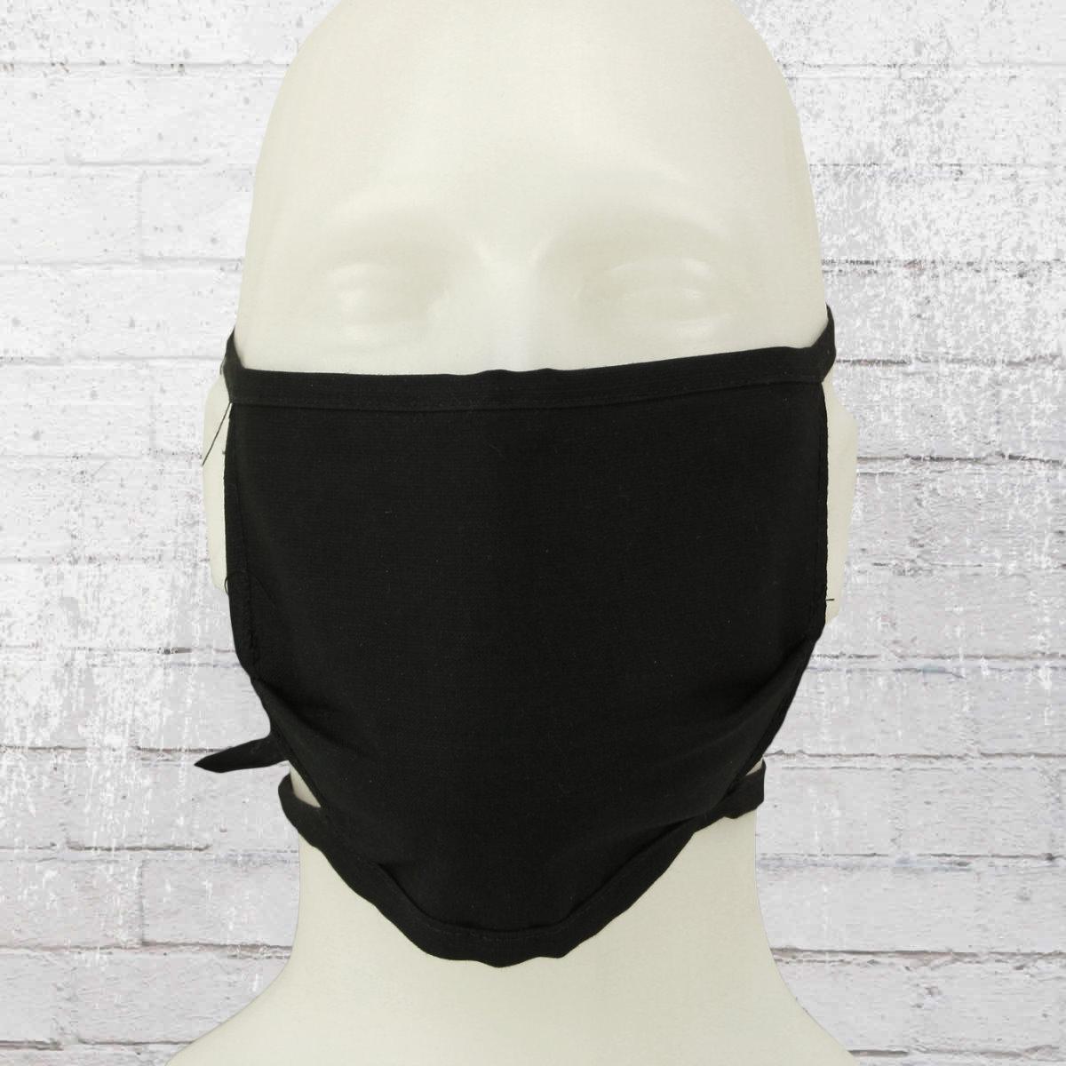 10er Pack Stoffmaske Mund-Nasen-Schutz Gesichtsmaske schwarz
