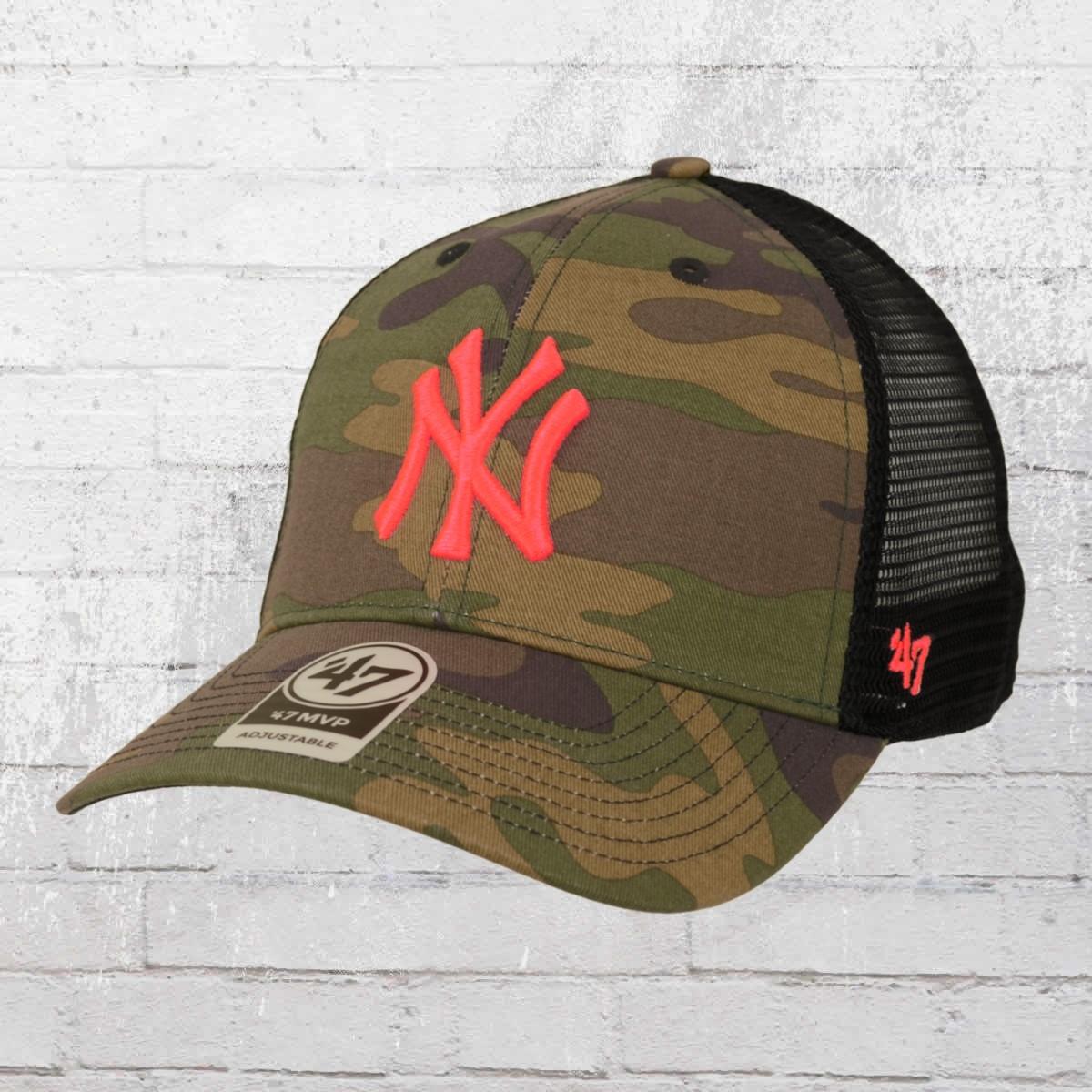 33efbd07495 47 Brand New York Yankees MLB Trucker Cap woodland pink