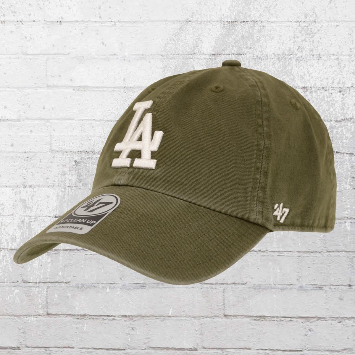 47 Brands Clean Up Baseball Cap LA Dodgers oliv