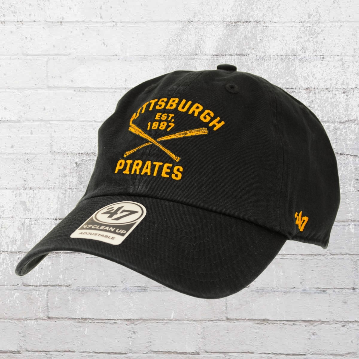 47 Brands Clean Up Team Cap Pittsburgh Pirates MLB schwarz