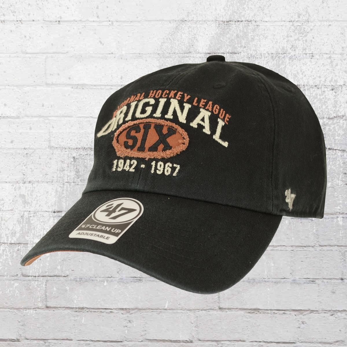 47 Brands NHL Original Six Henrick Cap schwarz
