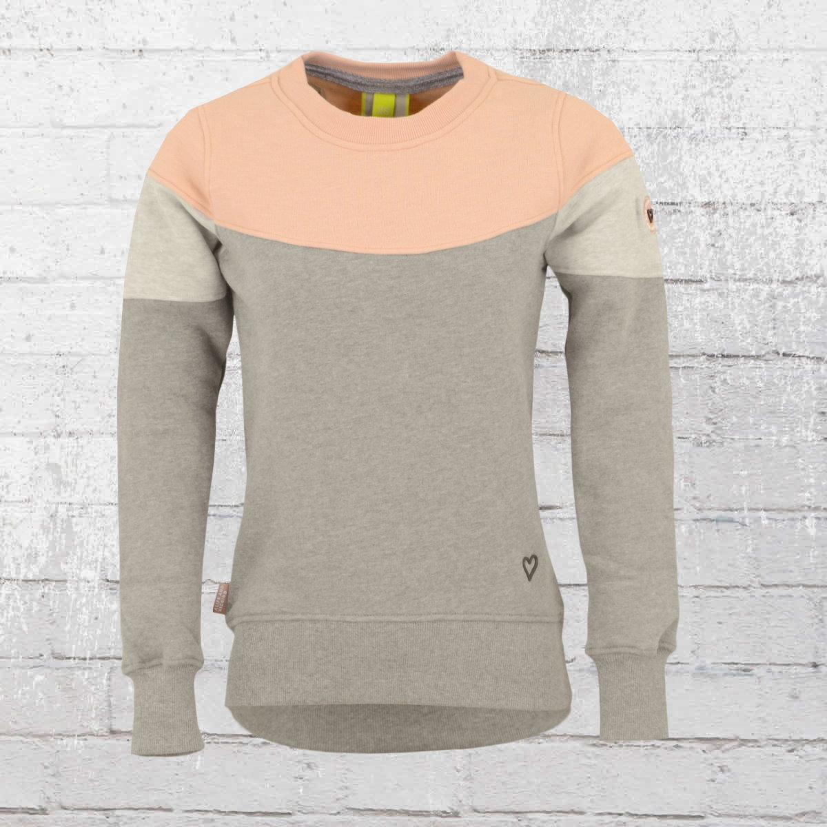 Alife and Kickin Damen Sweater Darla grau rosa