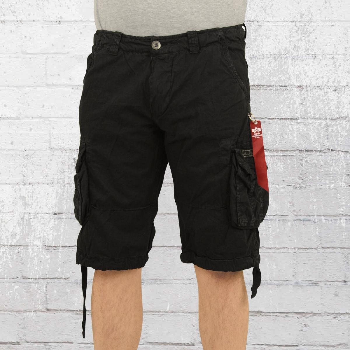Alpha Industries Mens Cargo Shorts Jet black