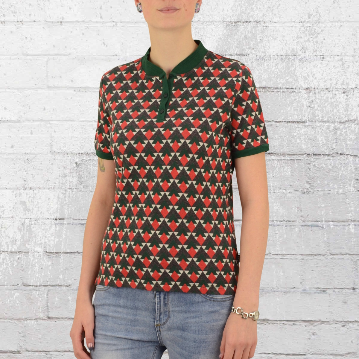 Ato Berlin Damen Polo Shirt Jette bunt