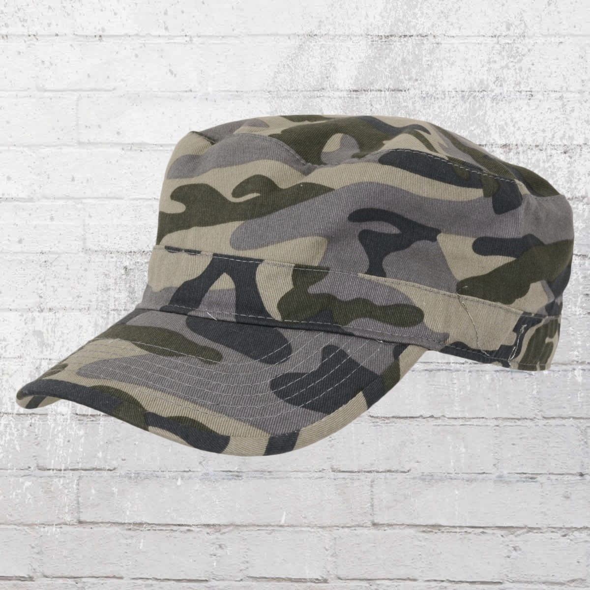 Beechfield Army Cap Top Gun Curved Military grau camo