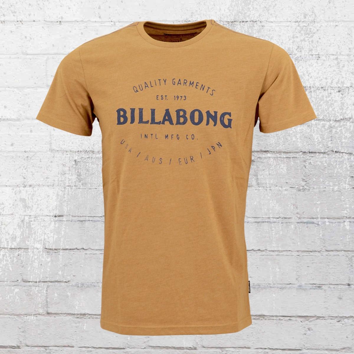 Billabong Herren T-Shirt Brewery ocker braun