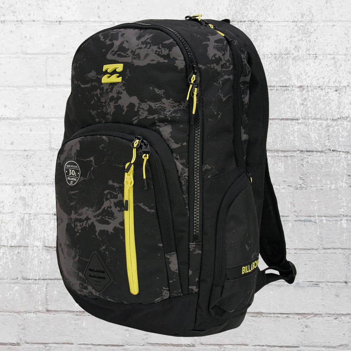 billabong command backpack rucksack mit laptopfach schwarz jetzt im online shop bestellen. Black Bedroom Furniture Sets. Home Design Ideas