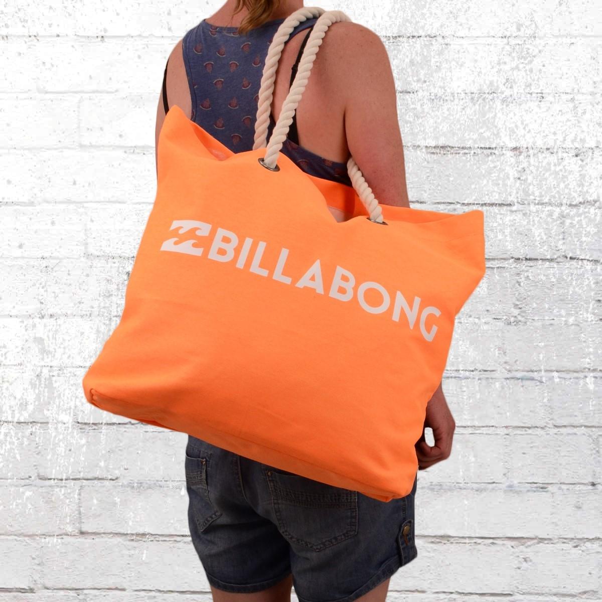 Billabong Damen Strandtasche Essential Beach Bag neon orange