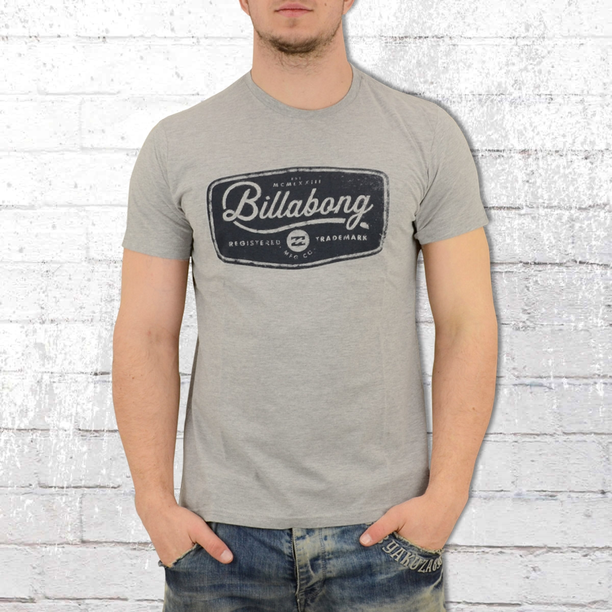 Billabong Herren T-Shirt Pits Top grau melange