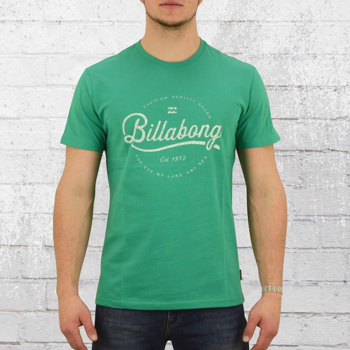 Order Now Billabong Mens T Shirt Outfield Green