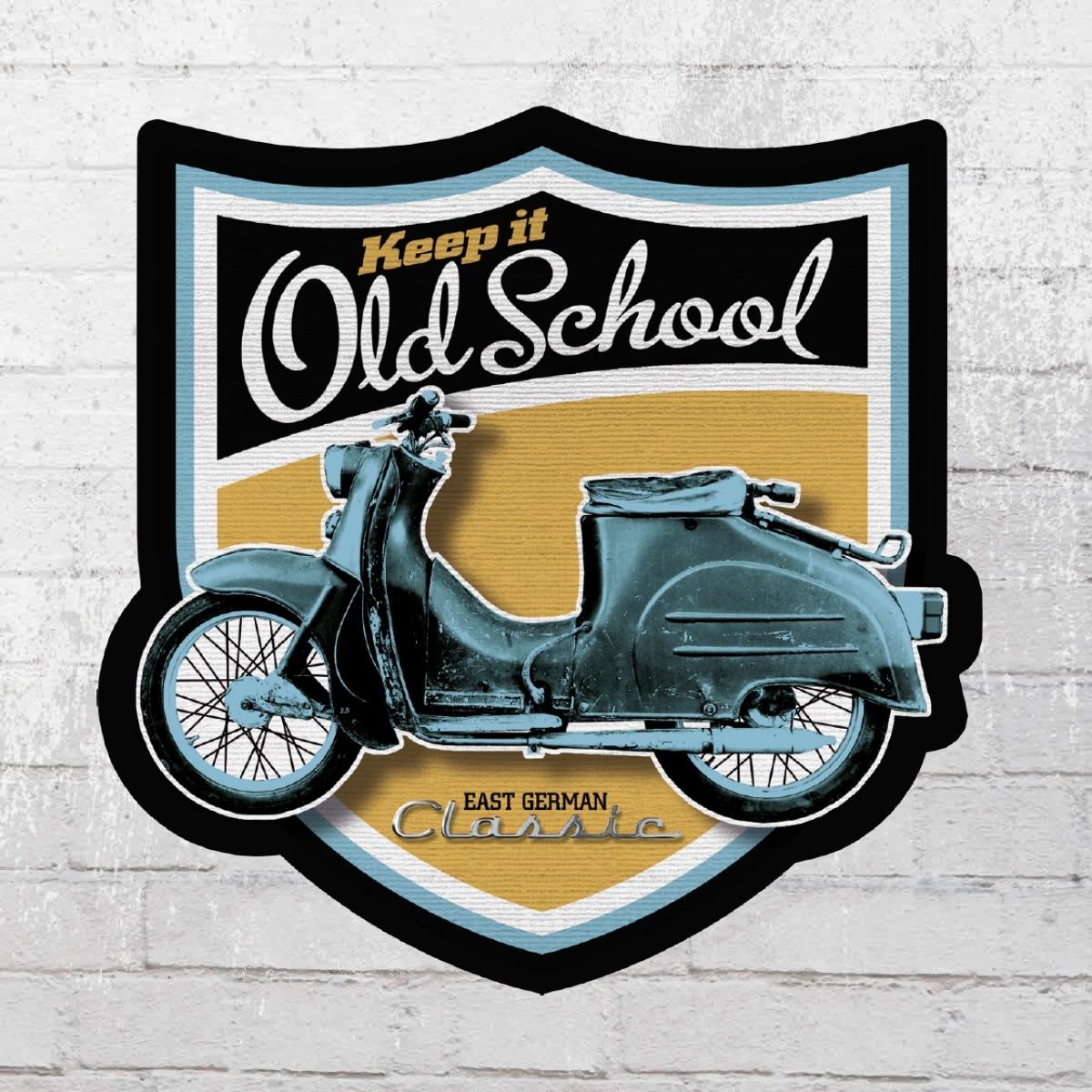 Bordstein Streetwear 5 Stück Aufkleber KR 50 Old School Wappen