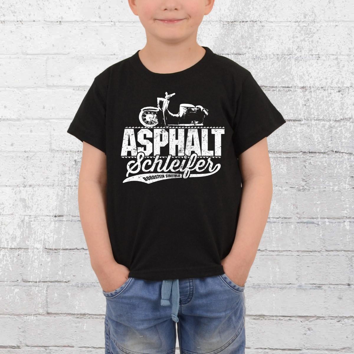 Bordstein T-Shirt Kinder Asphaltschleifer schwarz
