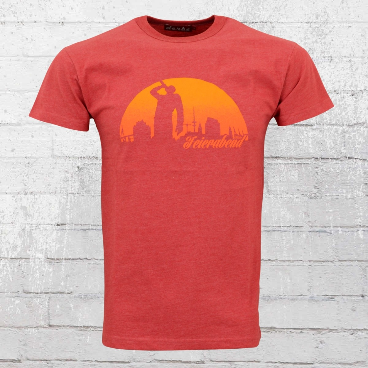 Derbe Feierabend Herren T-Shirt Reloaded rot L