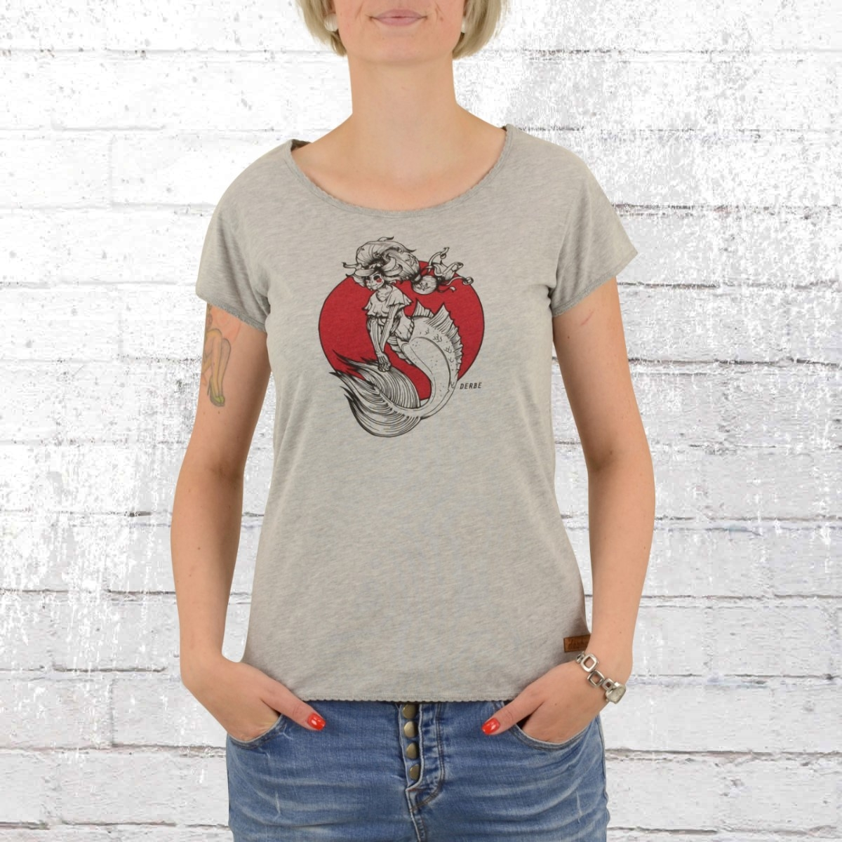 Derbe Hamburg Damen T-Shirt Vida hellgrau