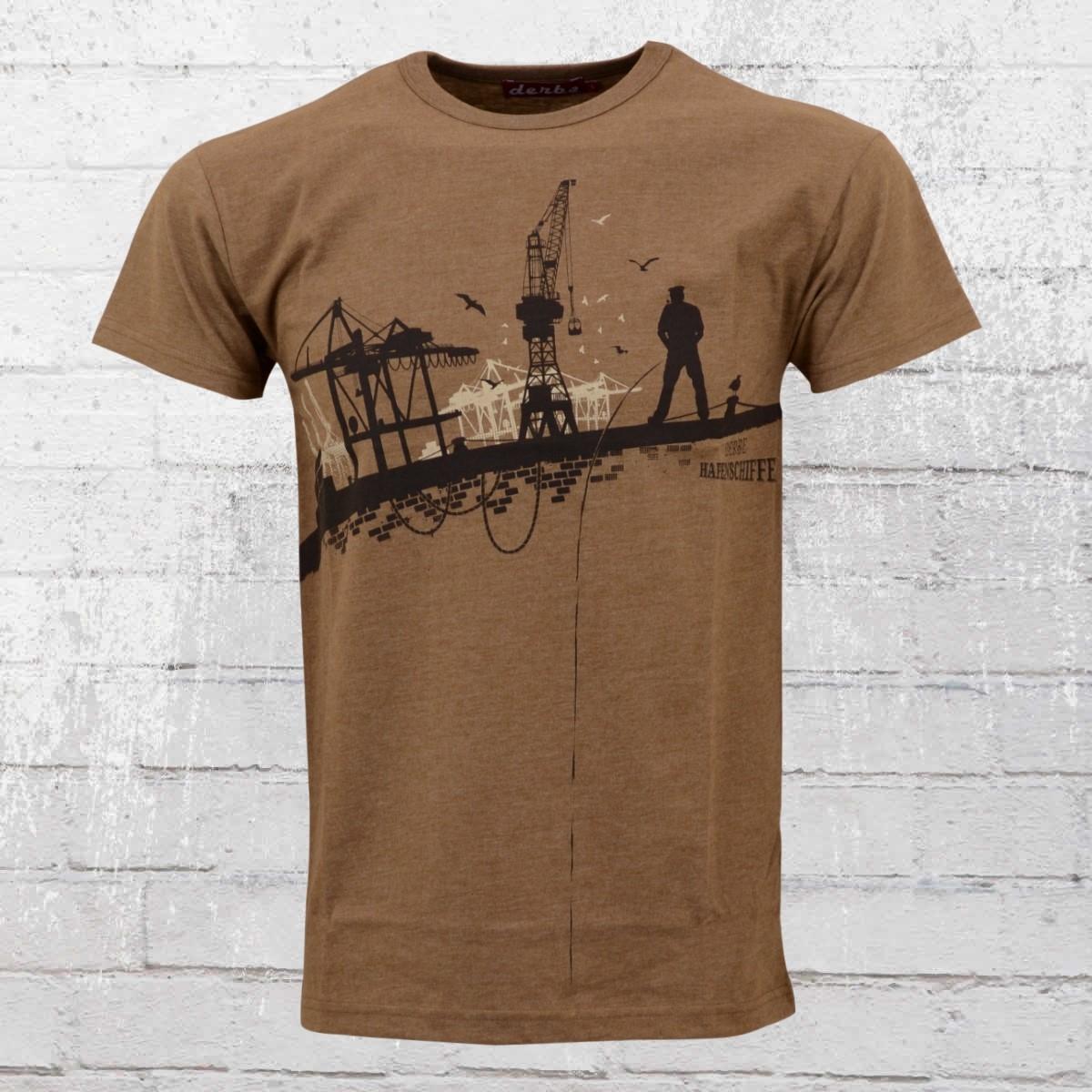 Derbe Hamburg Herren T-Shirt Hafenschiffer braun