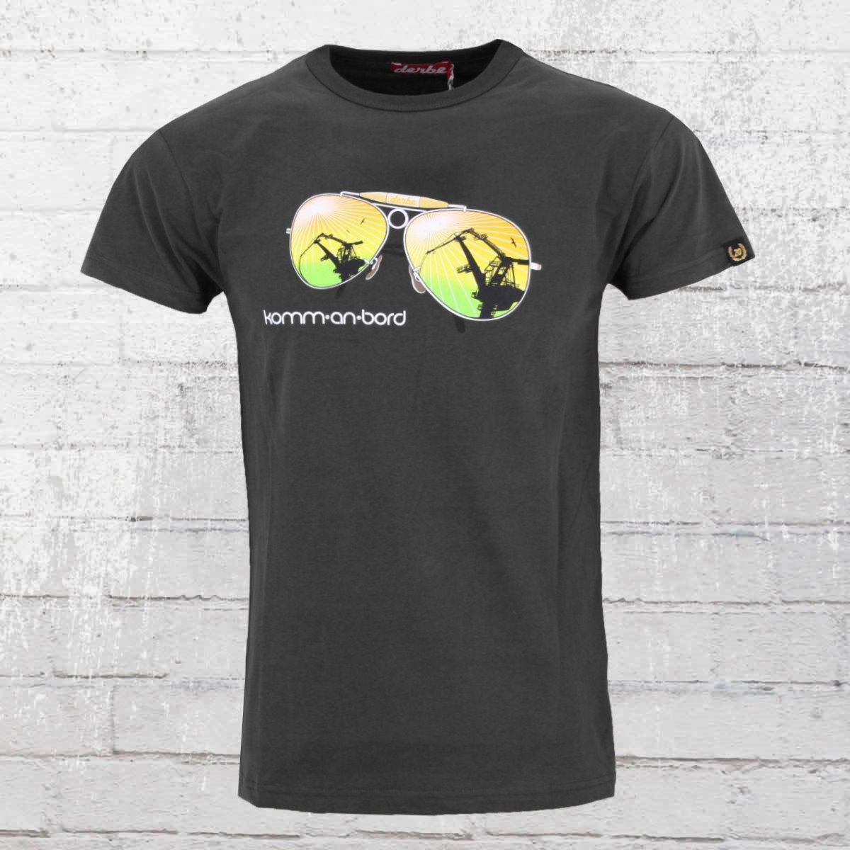 Derbe Hamburg Herren T-Shirt Komm An Bord grau