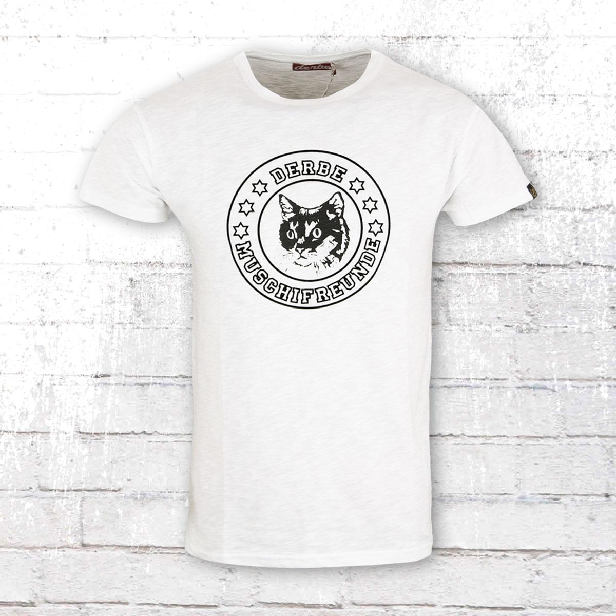 Derbe Hamburg Herren T-Shirt Muschifreunde weiss