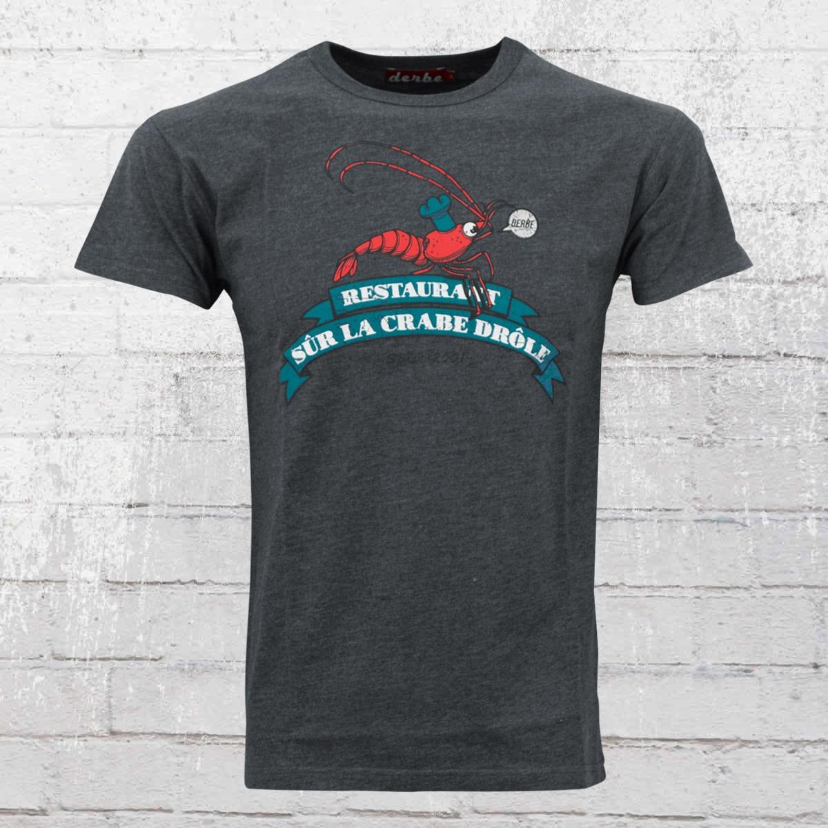 Derbe Hamburg Herren T-Shirt Riesenkrabbe melange blau