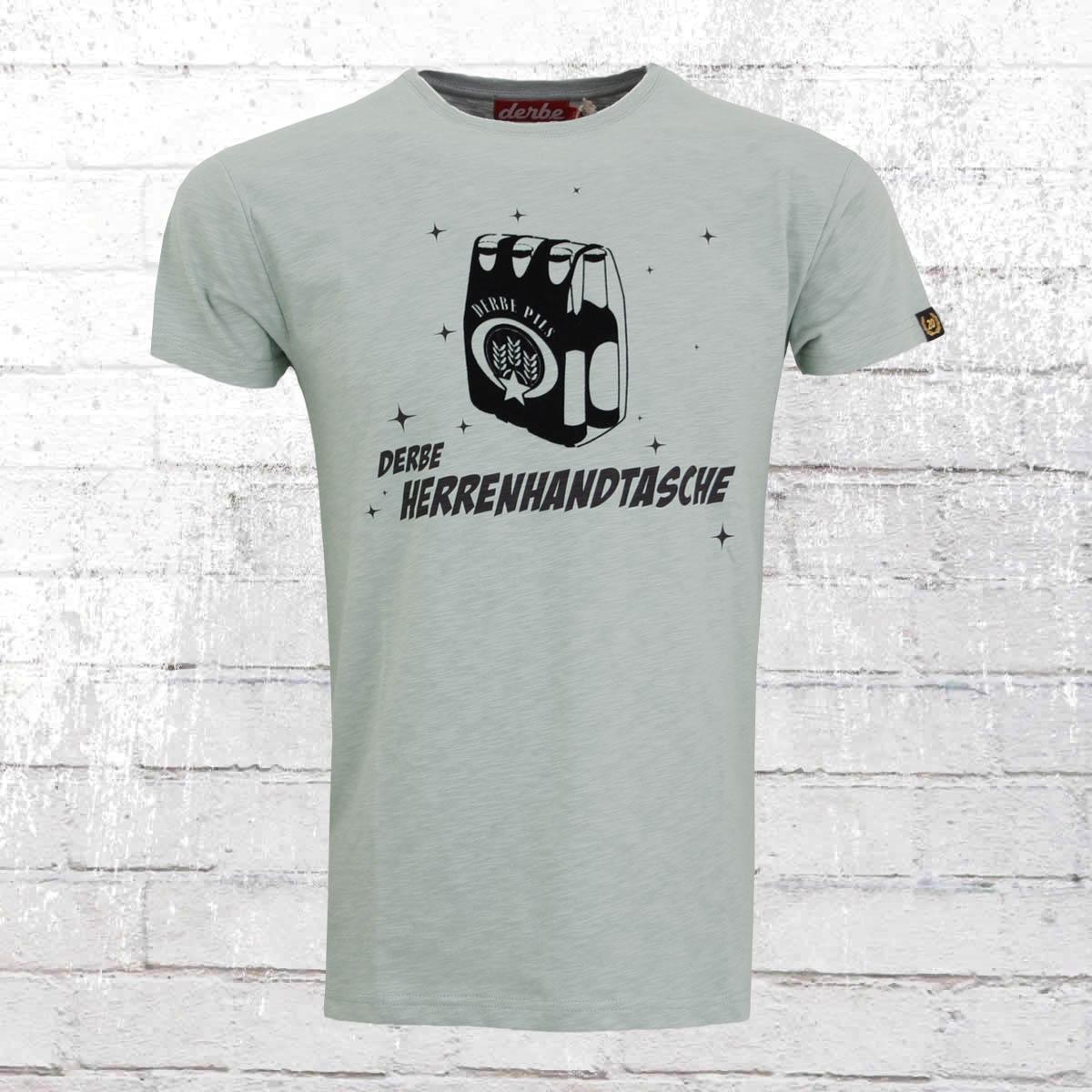 Derbe Hamburg Männer T-Shirt Herrenhandtasche grau