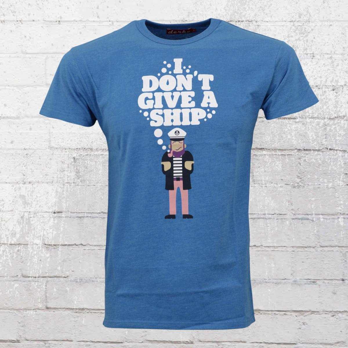 Derbe Herren T-Shirt Dont Give A Ship nautical melange