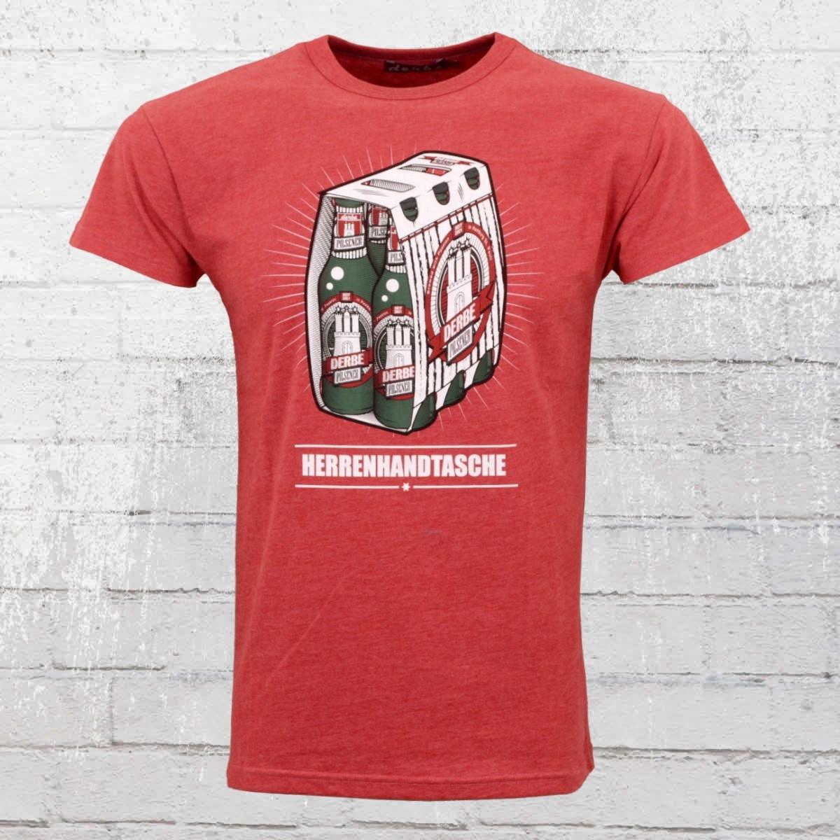 Derbe Männer T-Shirt Herrenhandtasche Reloded rot