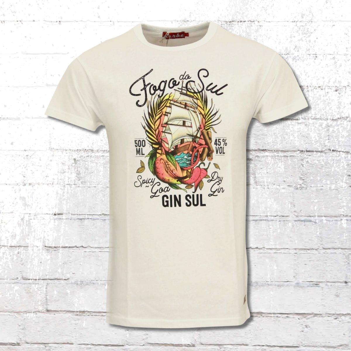 Derbe T-Shirt Männer Fogo Do Sul weiss