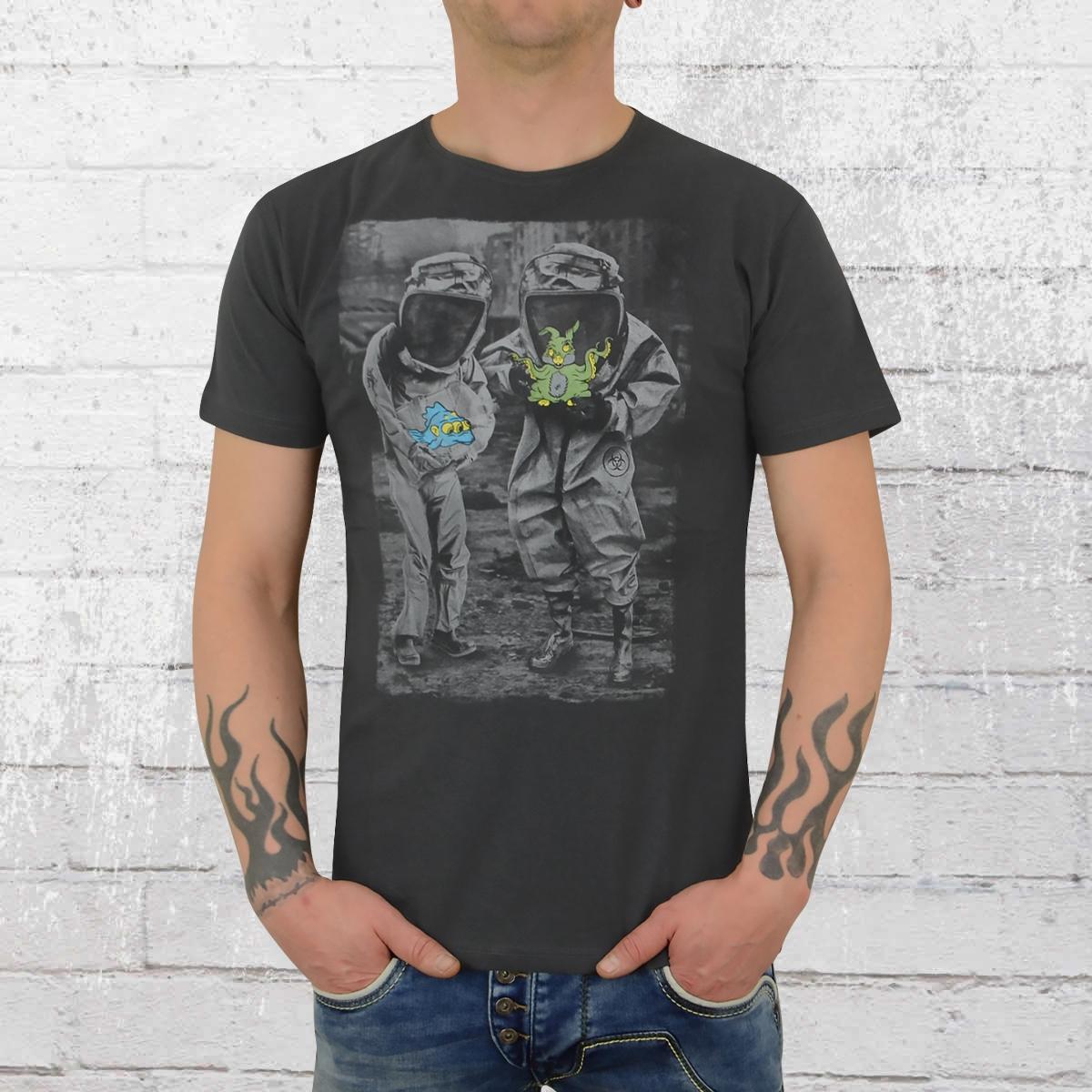 Dirty Velvet Herren Shirt Mutations anthrazit
