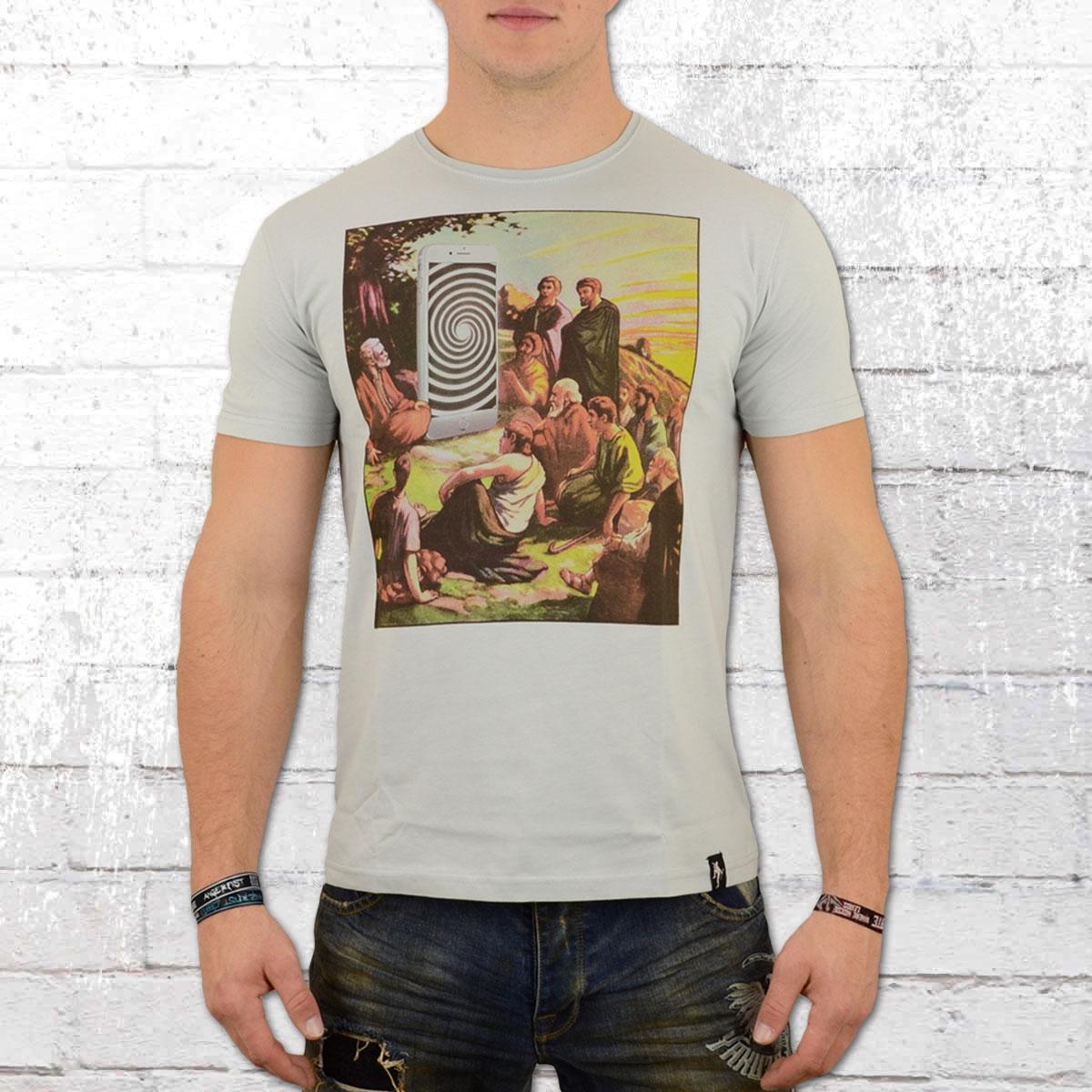 Dirty Velvet Herren T-Shirt Mobile Messiah grau