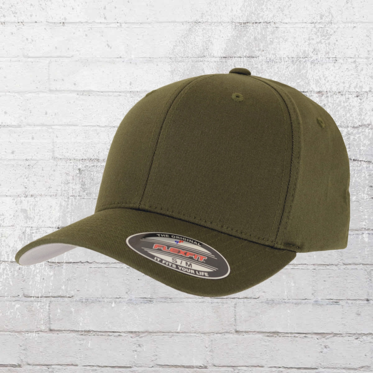 Flexfit Blanko Baseball Cap Classic oliv grün