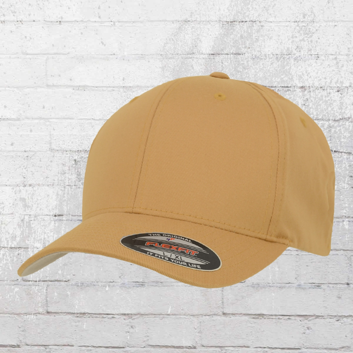Flexfit Kappe Wooly Combed Blanko Cap beige
