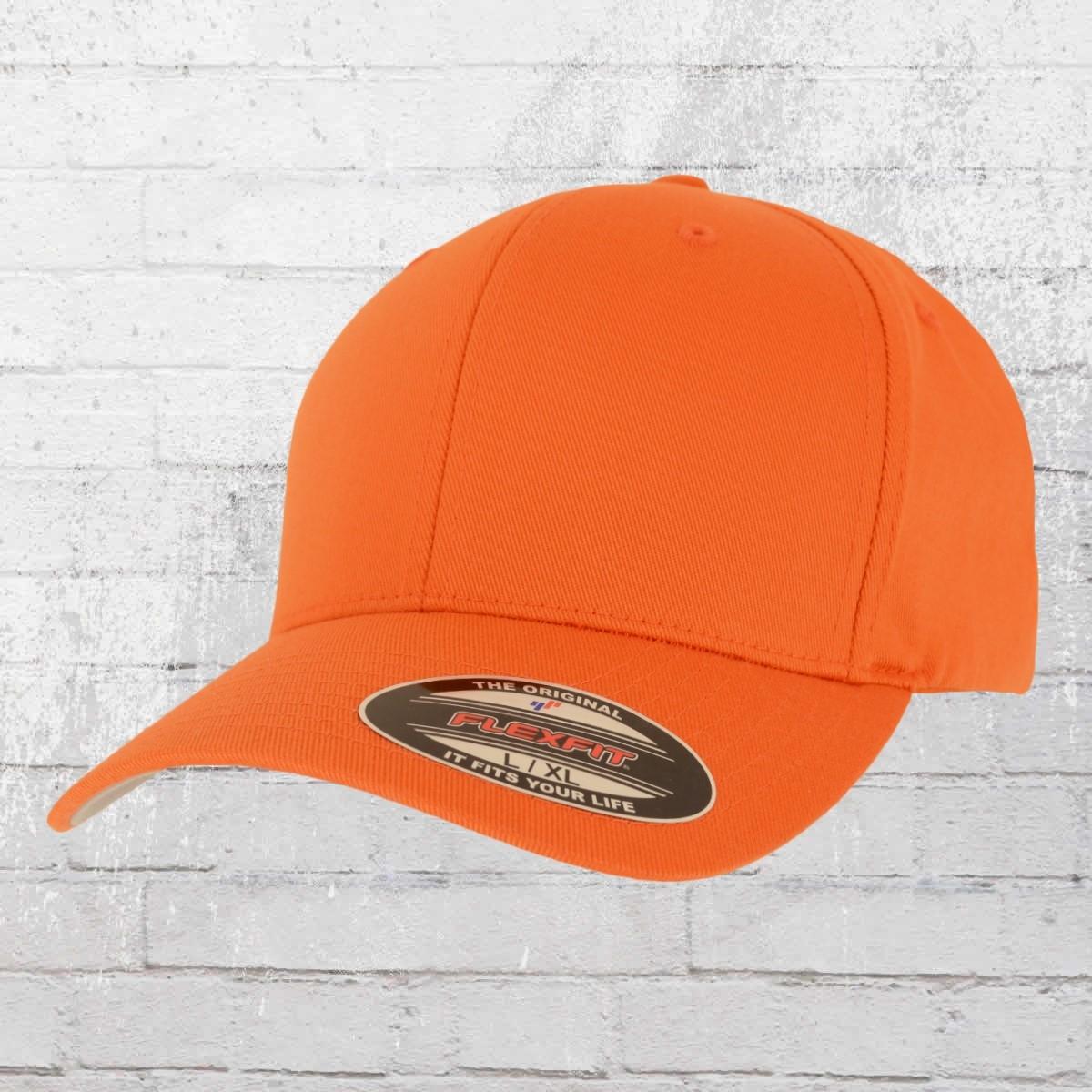 Flexfit Mütze Blanko Baseball Cap Classic orange