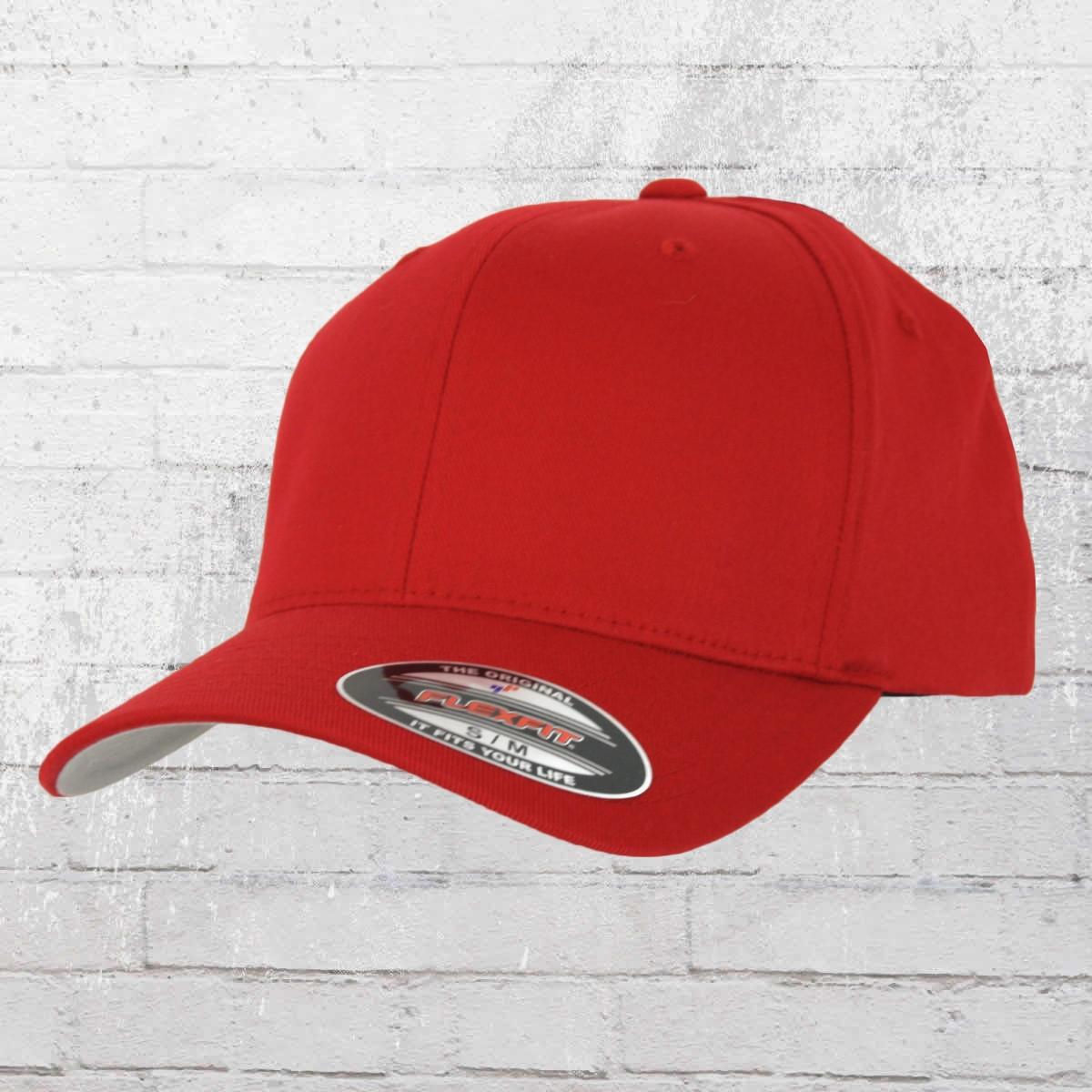 Flexfit Mütze Blanko Cap rot