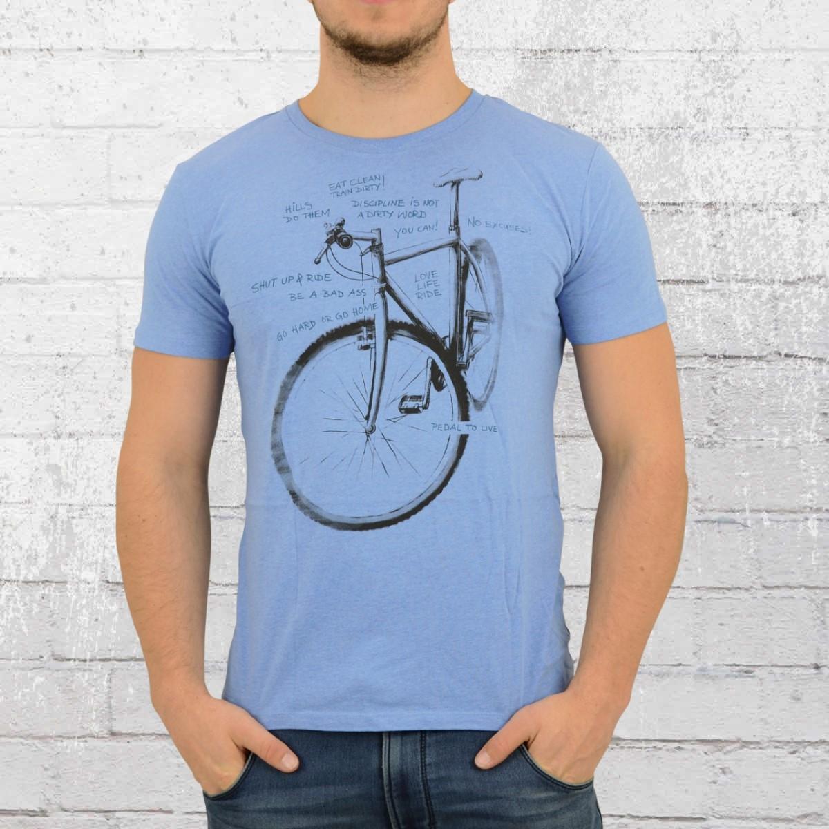 Greenbomb Fahrrad Männer T-Shirt Bike Scratch blau