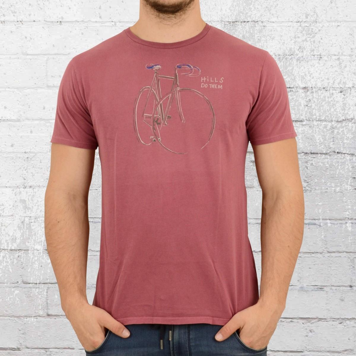 Greenbomb Fahrrad T-Shirt Herren Hills do them vintage rot