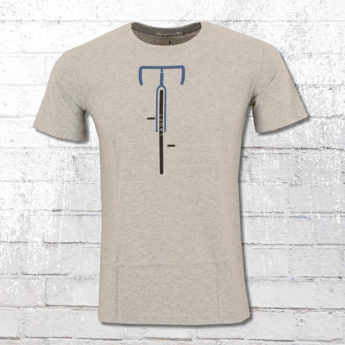 Greenbomb Herren Fahrrad T-Shirt Bike Läuft grau