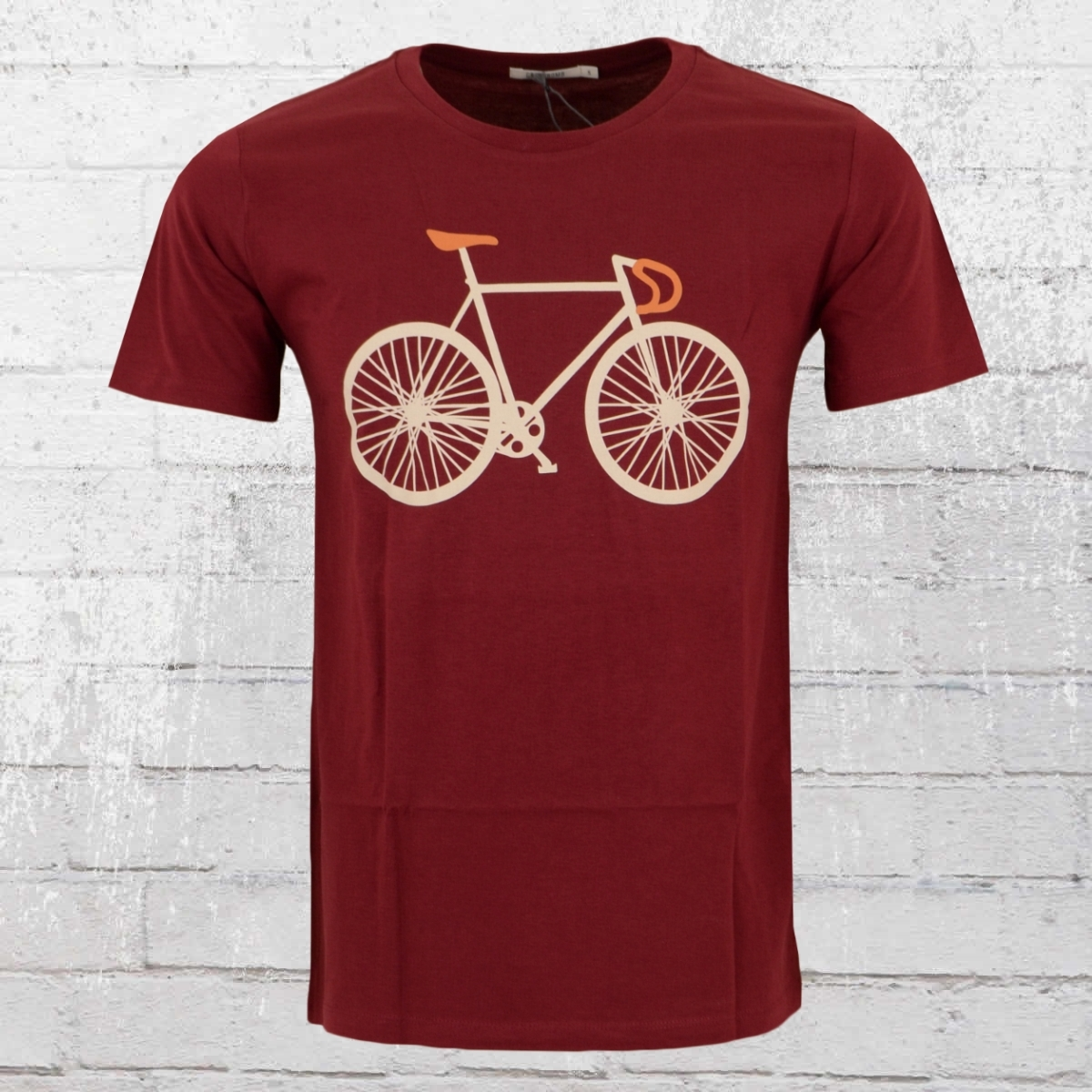 Greenbomb Herren Fahrrad T-Shirt Bike Two weinrot
