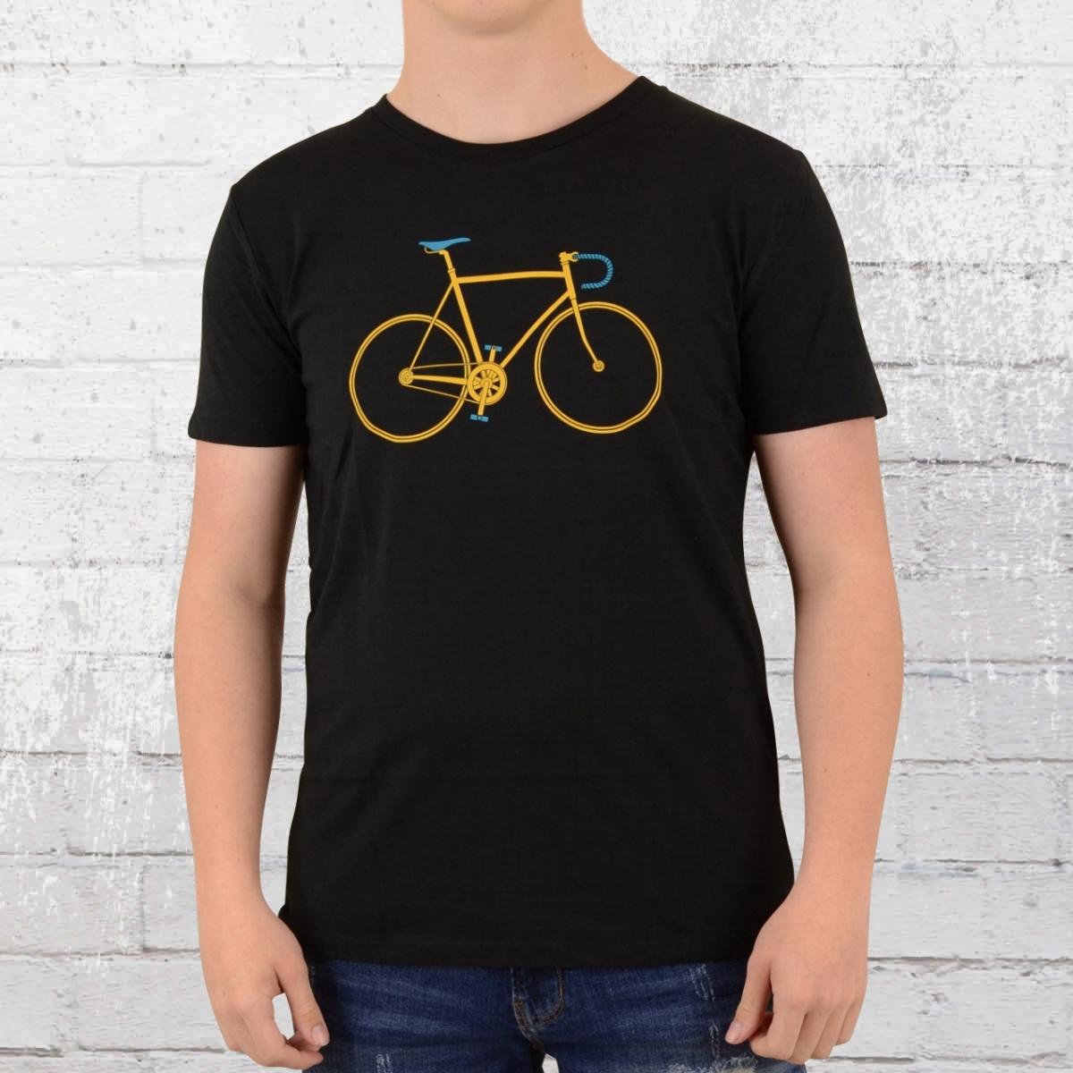 Greenbomb Herren Rennrad T-Shirt Bike Trip schwarz