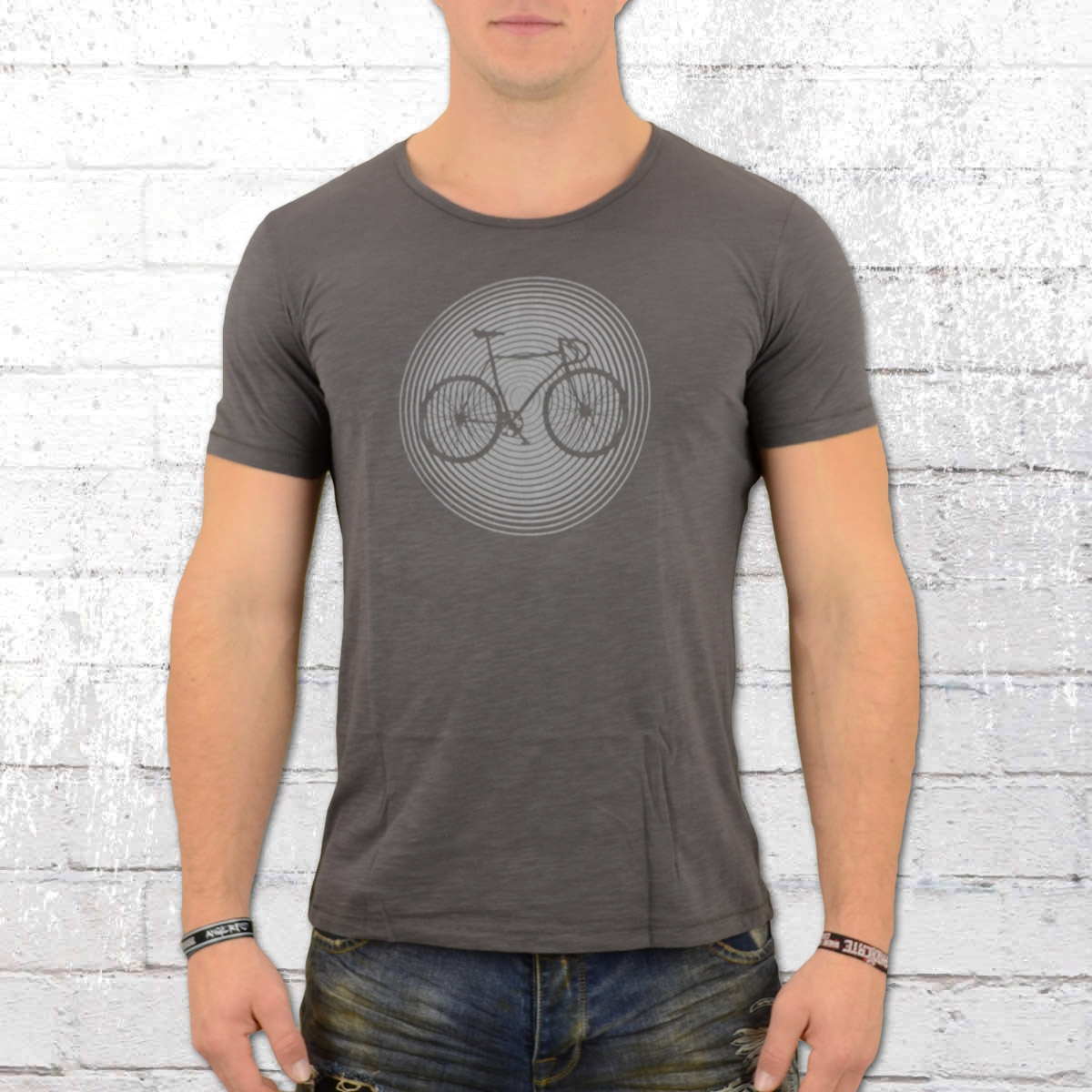Greenbomb Herren T-Shirt Bike Circle grau
