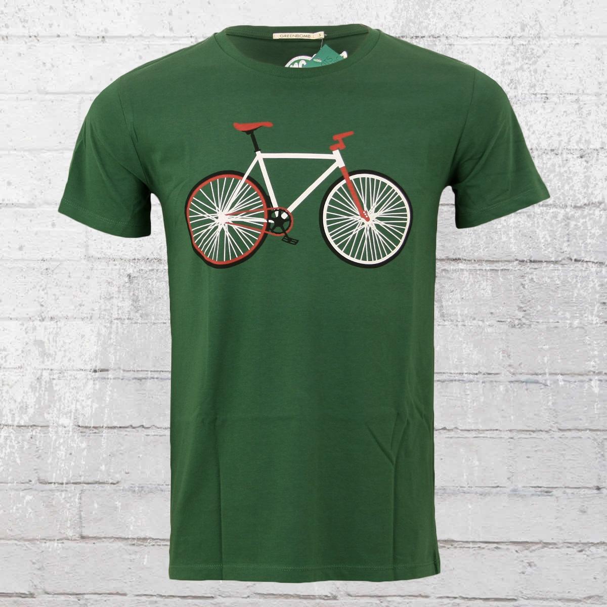 Greenbomb Herren Mountain Bike Fahrrad T-Shirt Bike Easy grün