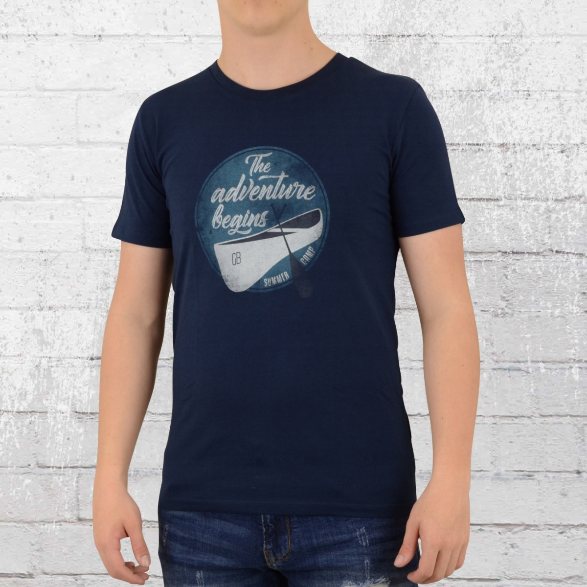 Greenbomb T-Shirt Herren Nature Adventure blau