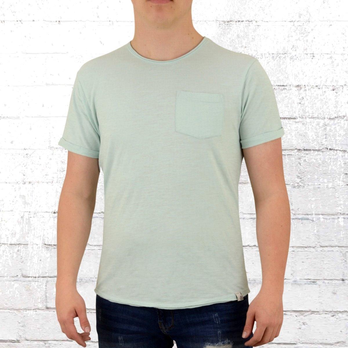 Indicode Herren T-Shirt Mit Brusttasche Overland türkis