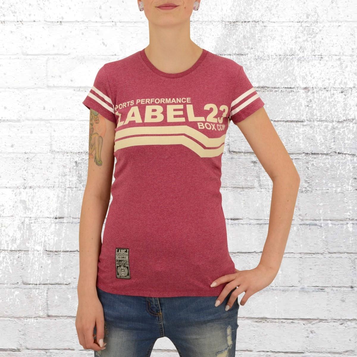 Label 23 Damen T-Shirt L23 Boxcon rot melange