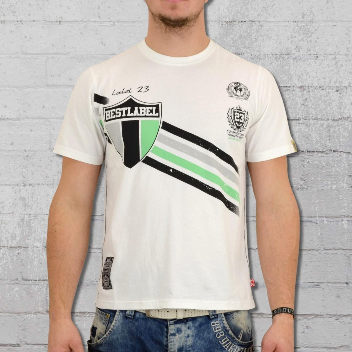 Label 23 Herren T-Shirt Best Label weiss