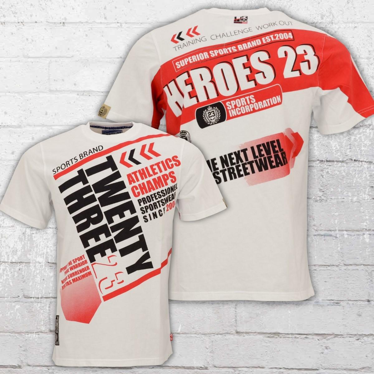 Label 23 Herren T-Shirt Heroes weiss