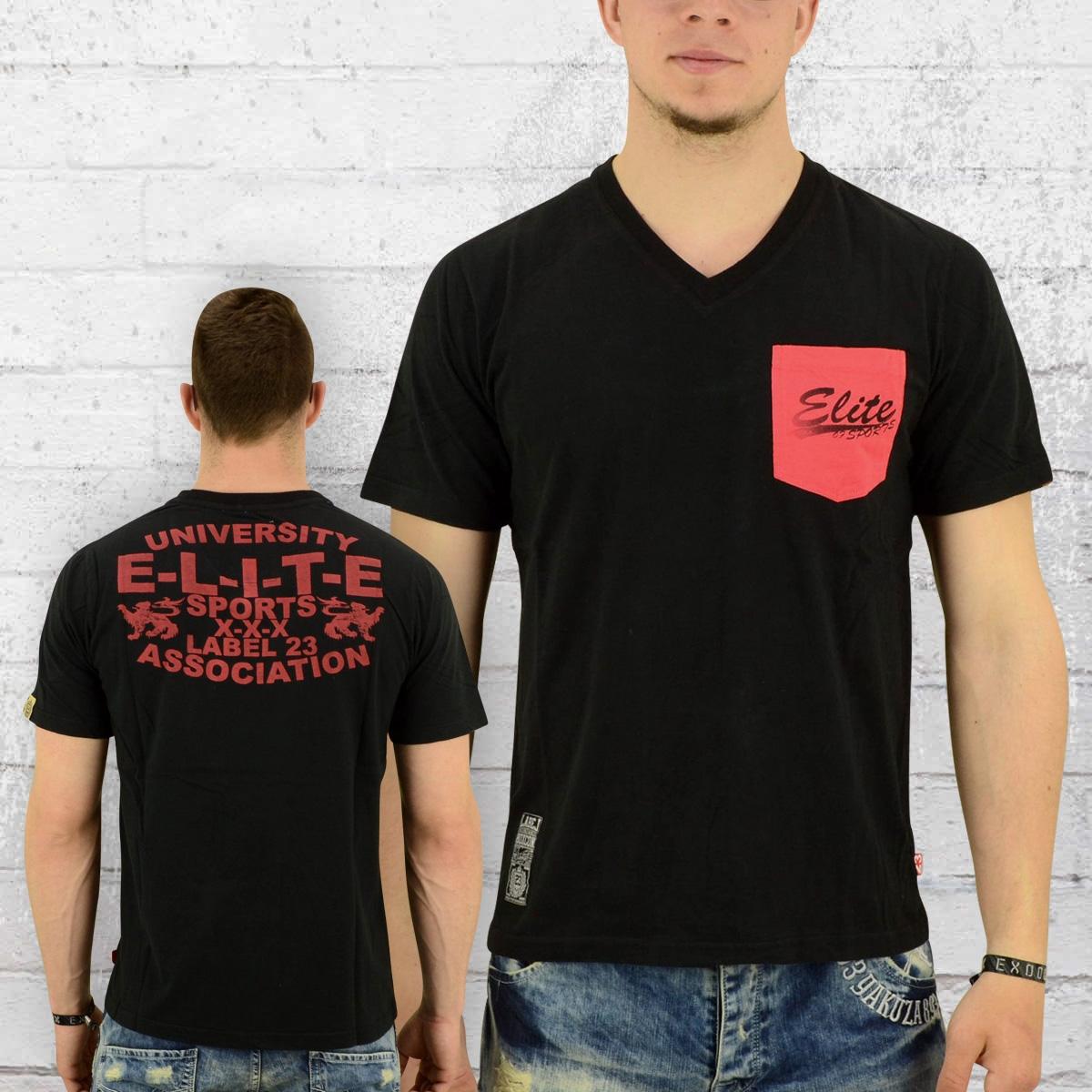 Label 23 Männer T-Shirt Elite schwarz