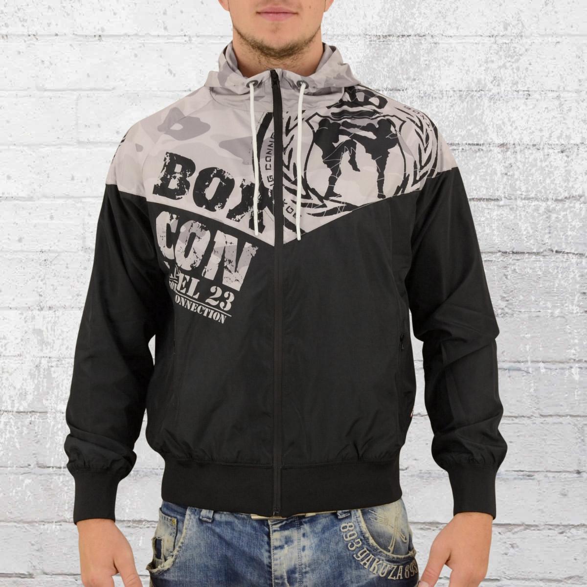 Label 23 Windjacke Männer Fight Team camouflage schwarz grau