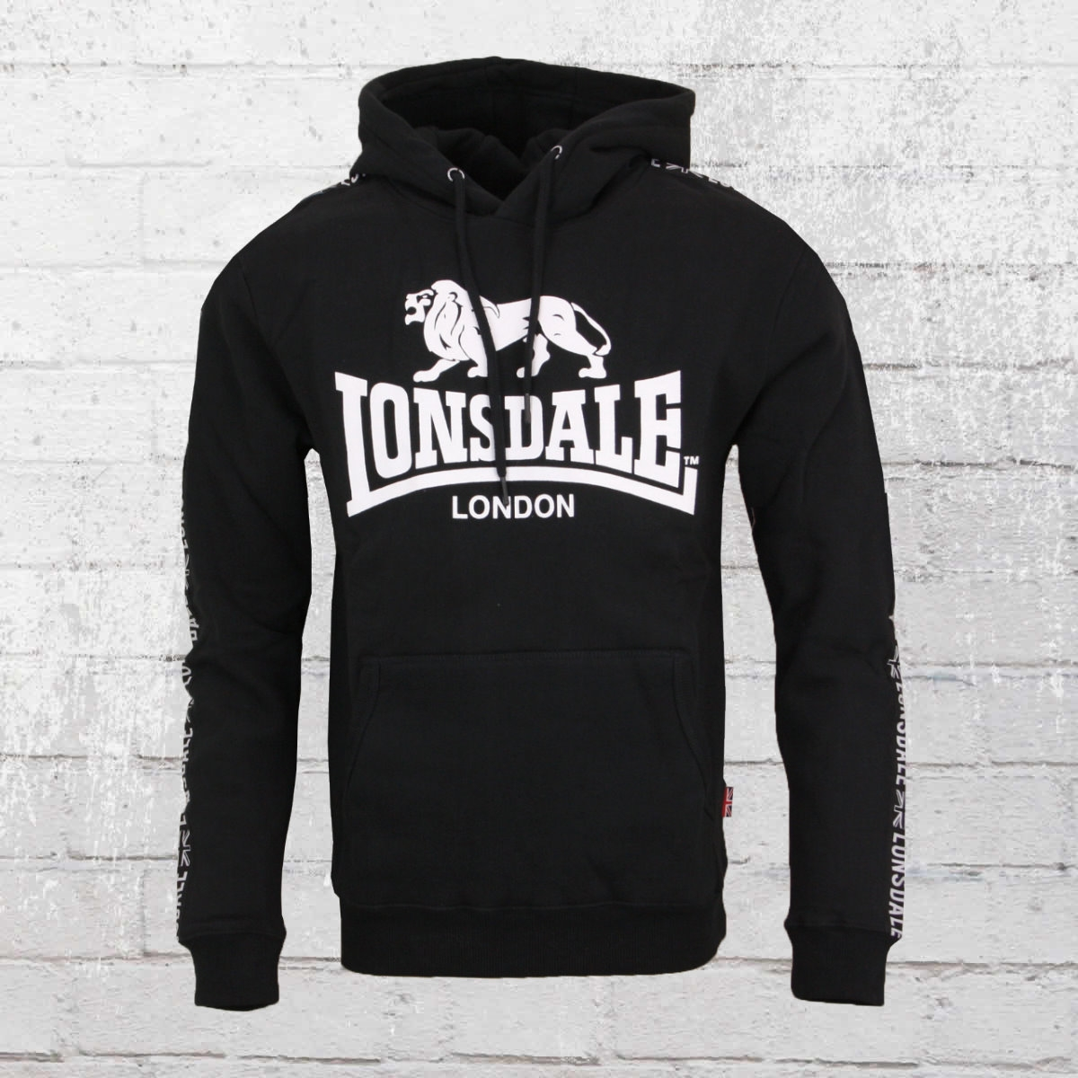 Lonsdale Herren Hoody Yapton schwarz