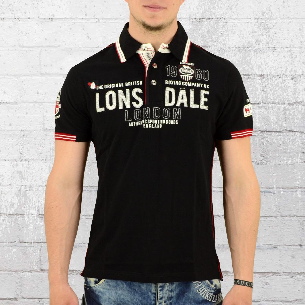 f48dc12a Lonsdale London Male Poloshirt Sellindge black