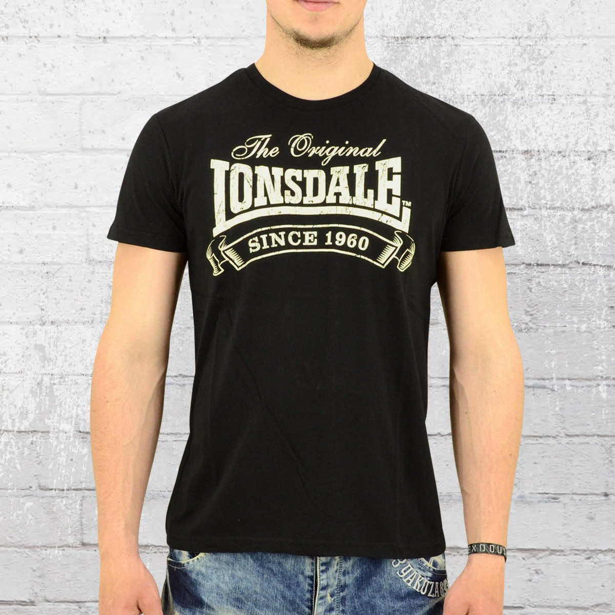 order now lonsdale london shirt men martock black. Black Bedroom Furniture Sets. Home Design Ideas