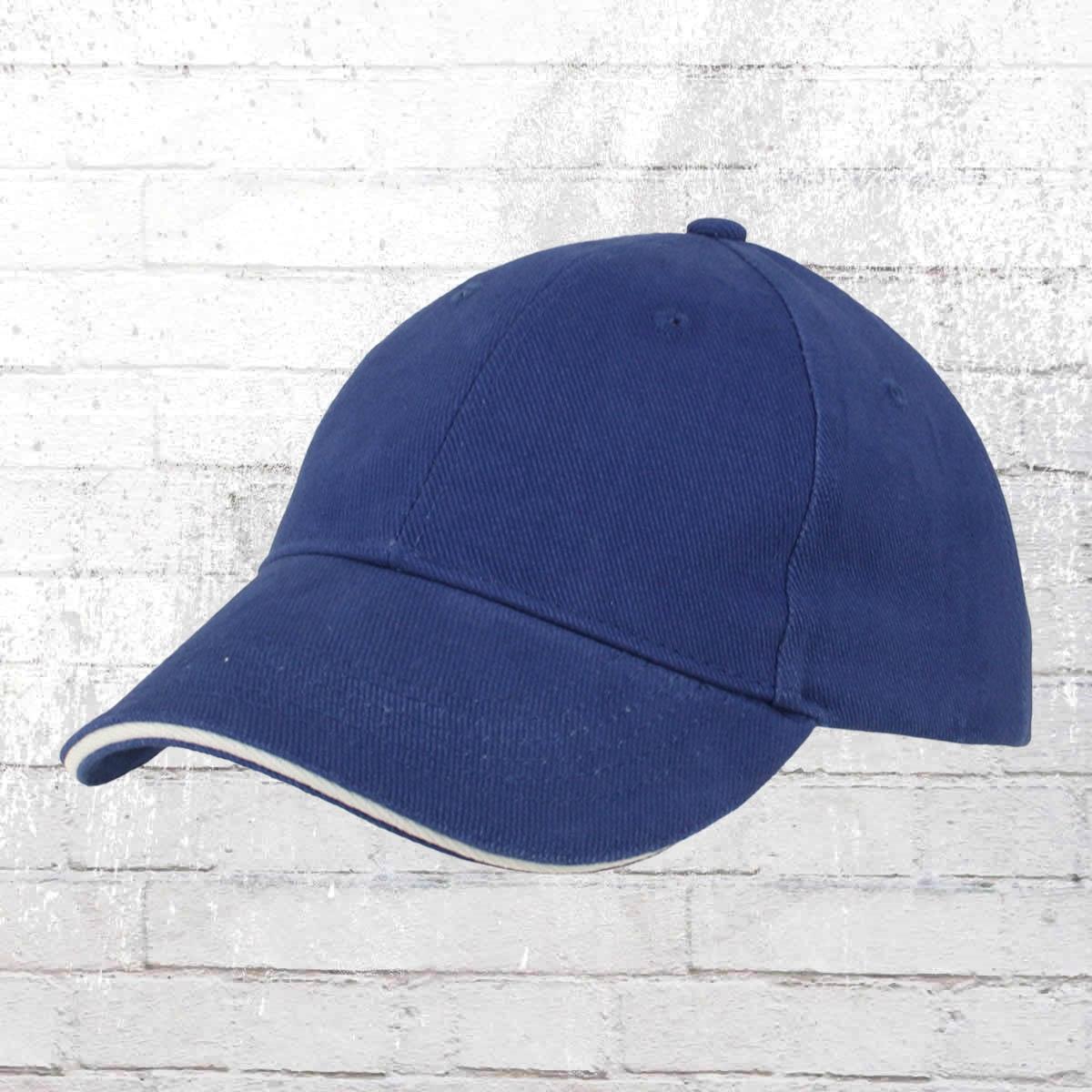 Myrtle Beach Blanko Sandwich Cap blau weiss